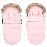 Детский конверт для коляски, санок 4 в 1 Springos SB0017 розовый. Детский спальный мешок для коляски