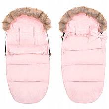 Детский конверт для коляски, санок 4 в 1 Springos SB0017 розовый. Детский спальный мешок для коляски -