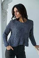 Плюшевый пуловер LUREX - серый цвет, S (есть размеры), фото 1