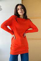 Платье туника с глубоким кружевным вырезом на спинке Enzoria - коралловый цвет, L (есть размеры), фото 1