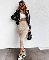 Спідниця молодіжна подовжена для дівчат розміри 42-46, колір уточнюйте при замовленні, фото 1