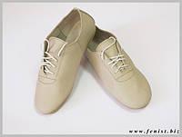 """Обувь для современных танцев """"джазовки""""(белые, бежевые)"""