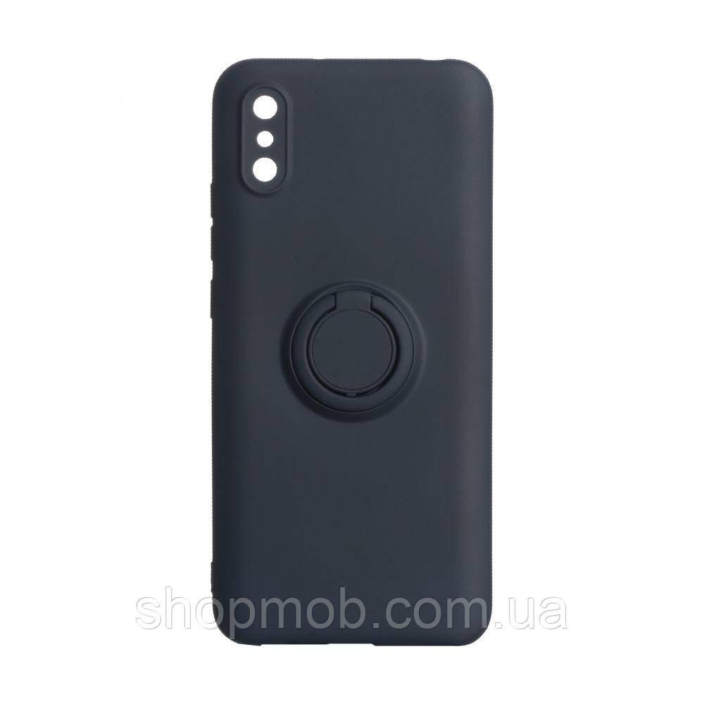 Чехол Ring Color for Xiaomi Redmi 9A Цвет Тёмно-Синий