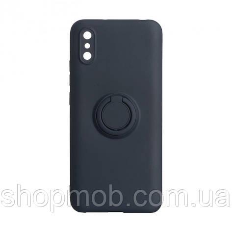 Чехол Ring Color for Xiaomi Redmi 9A Цвет Тёмно-Синий, фото 2
