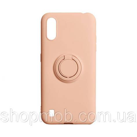 Чехол Ring Color for Samsung A01 Цвет Персиковый, фото 2