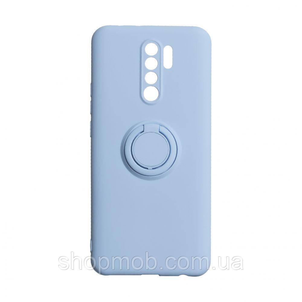 Чехол Ring Color for Xiaomi Redmi 9 Цвет Голубой