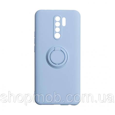 Чехол Ring Color for Xiaomi Redmi 9 Цвет Голубой, фото 2