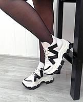 Высокие кроссовки кожа от производителя, фото 1