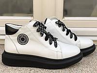 Ботинки женские белые кожаные зимние, женские зимние ботинки на шнуровке на плоском ходу