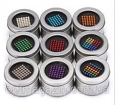 Нєо Куб 5мм кольоровий, Магнітні кульки, Магнітний неокуб, Головоломка, фото 2
