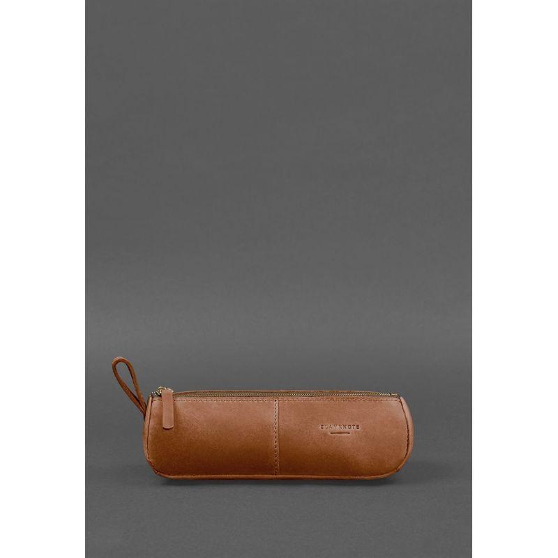 Кожаный пенал-несессер (футляр для очков) 4.0 Светло-коричневый Crazy Horse