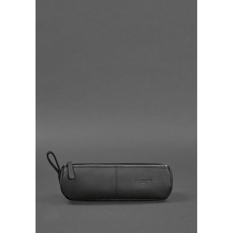 Кожаный пенал-несессер (футляр для очков) 4.0 Черный Crazy Horse