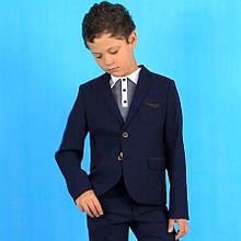26700син Пиджак синий для мальчика тм Промателье размер 134