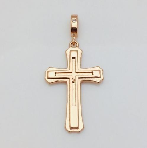 Хрест  86100307, высота 24 мм ширина 16 мм, позолота