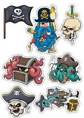 """Вафельна картинка  """"Пірати"""""""