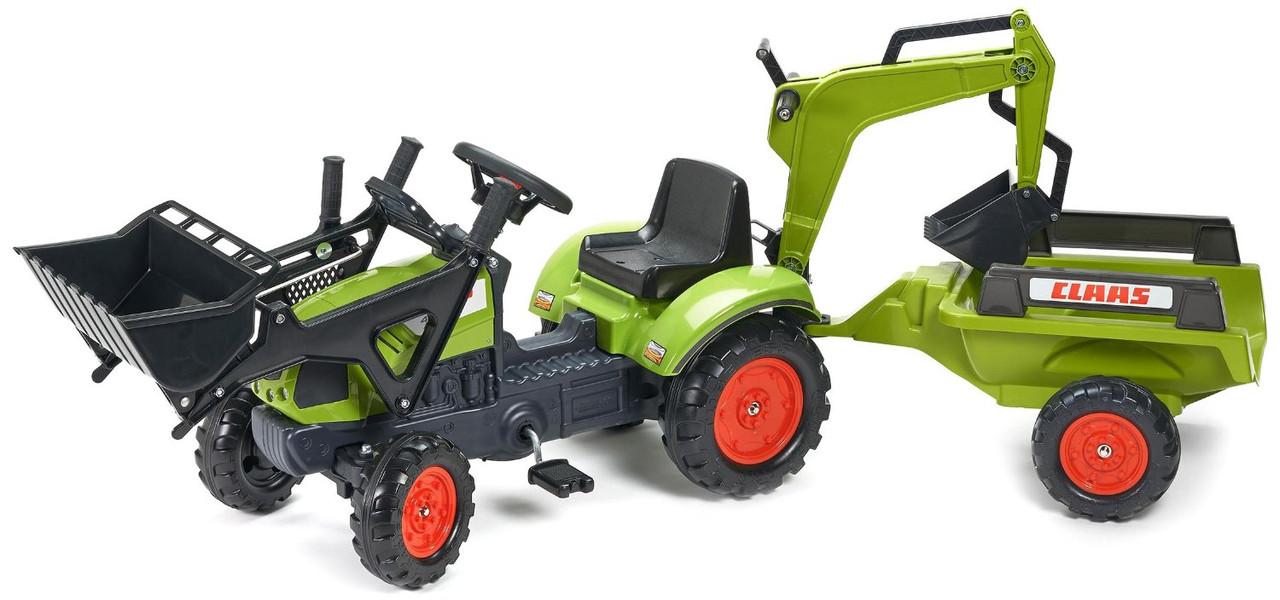 Трактор педальный с двумя ковшами Claas Arion Falk 2040N
