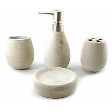 Комплект для ванной комнаты керамический белый