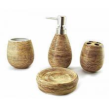 Набор для ванной комнаты керамический коричневый
