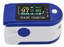 Пульсометр оксиметр на палец (пульсоксиметр) JN P01 TFT Blue