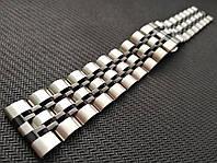 Браслет для часов из нержавеющей стали, литой, мат/глянец. 20 мм, фото 1