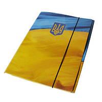Папка А-4 на резинке картон РР покрытие Флаг (338\ua)