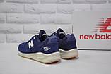 Чоловічі демісезонні сині замшеві кросівки в стилі New Balance 530 EURONCAP, фото 3