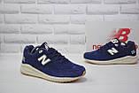 Чоловічі демісезонні сині замшеві кросівки в стилі New Balance 530 EURONCAP, фото 5
