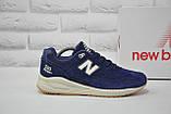 Чоловічі демісезонні сині замшеві кросівки в стилі New Balance 530 EURONCAP, фото 4