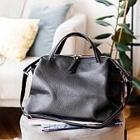 Женские сумки из натуральной кожи италия итальянские кожаные сумки  женская сумка кожаная черная стильная, фото 1