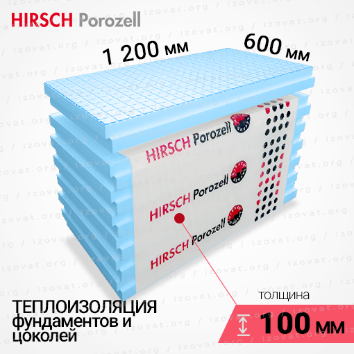 Пенополистирол HIRSCH (Хирш) EPS 100L для теплоизоляции фундаментов