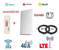 Комплект беспроводного 3G/4G/LTE интернета Huawei E8372h-153+Антенна планшетная MIMO 2×24 dbi+стартовый пакет