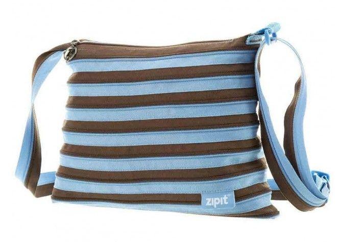 Сумка Zipit Medium Ocean Blue&Soft Brown (ZBD-4)