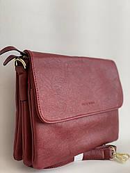 Жіночий клатч сумочка бордова молодіжна на плечовому ремені Pretty Woman