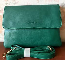 Жіночий клатч повсякденний сумка зеленого кольору на плечовому ремені Pretty Woman