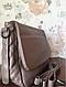 Класична повсякденна сумка жіноча через плече кольору кави з молоком Pretty woman, фото 3