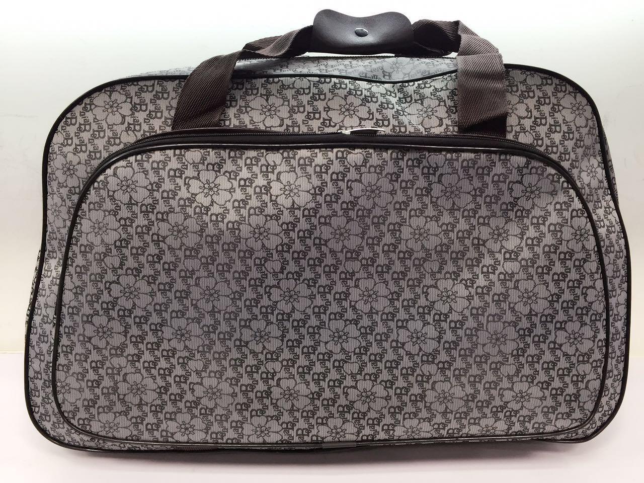 Жіноча текстильна дорожня сумка-саквояж для поїздок і подорожей