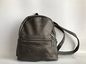 Жіноча сумка-рюкзак колір бронзовий Pretty woman