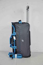 Дорожня спортивна сумка на колесах середня з висувною телескопічною ручкою