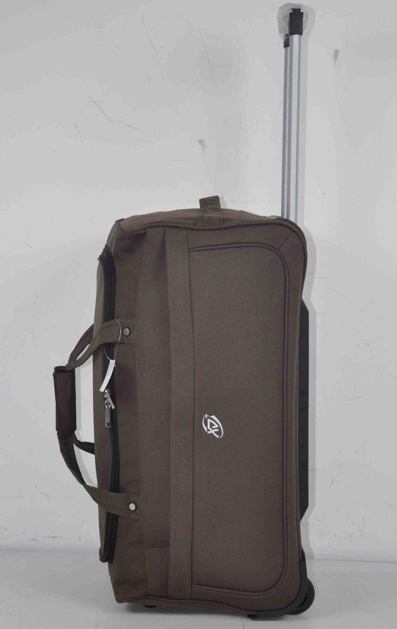 Дорожная вместительная сумка на колесах с выдвижной ручкой для путешествий