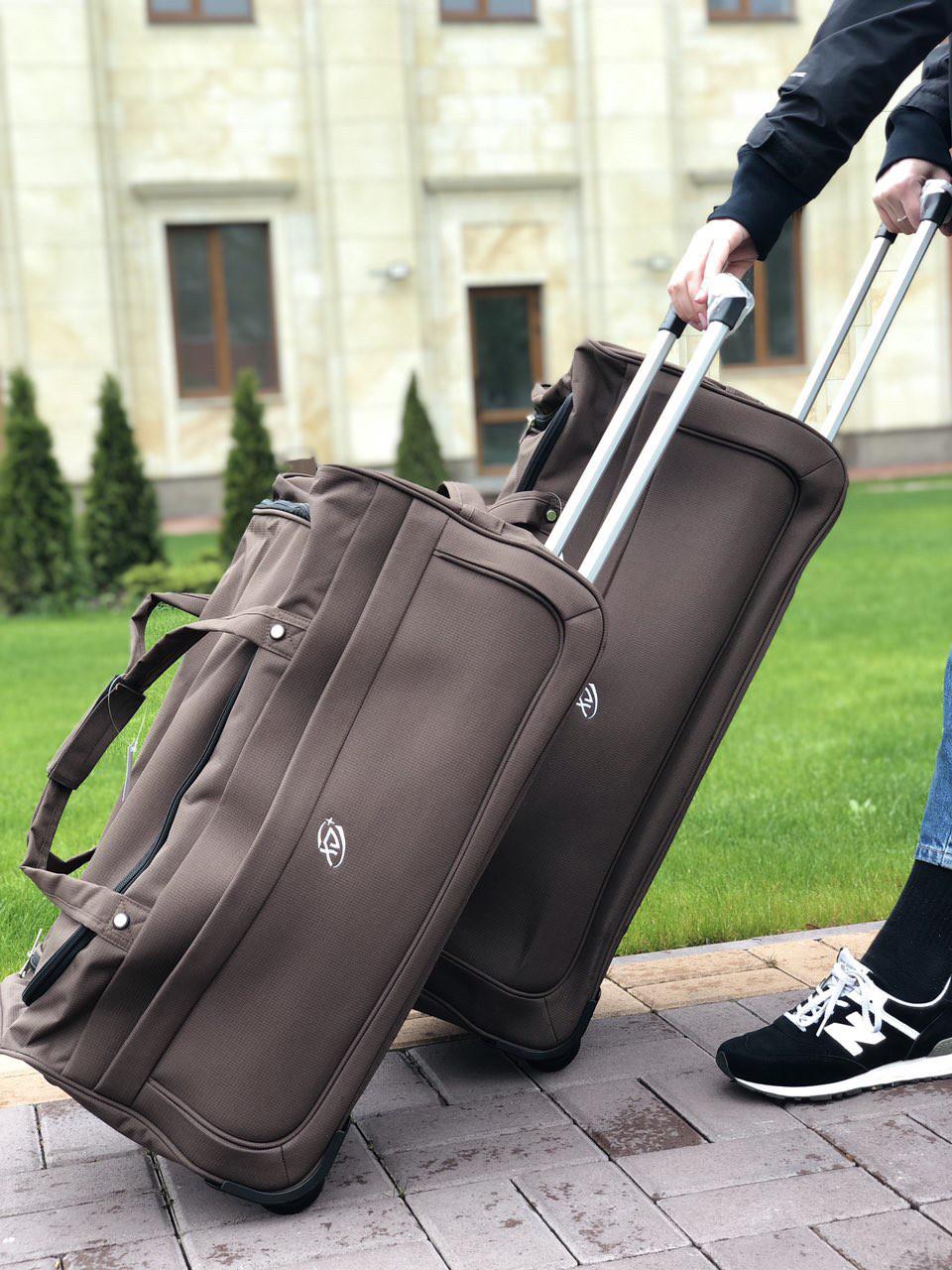 Набор дорожных сумок на колесах с выдвижной ручкой для путешествий