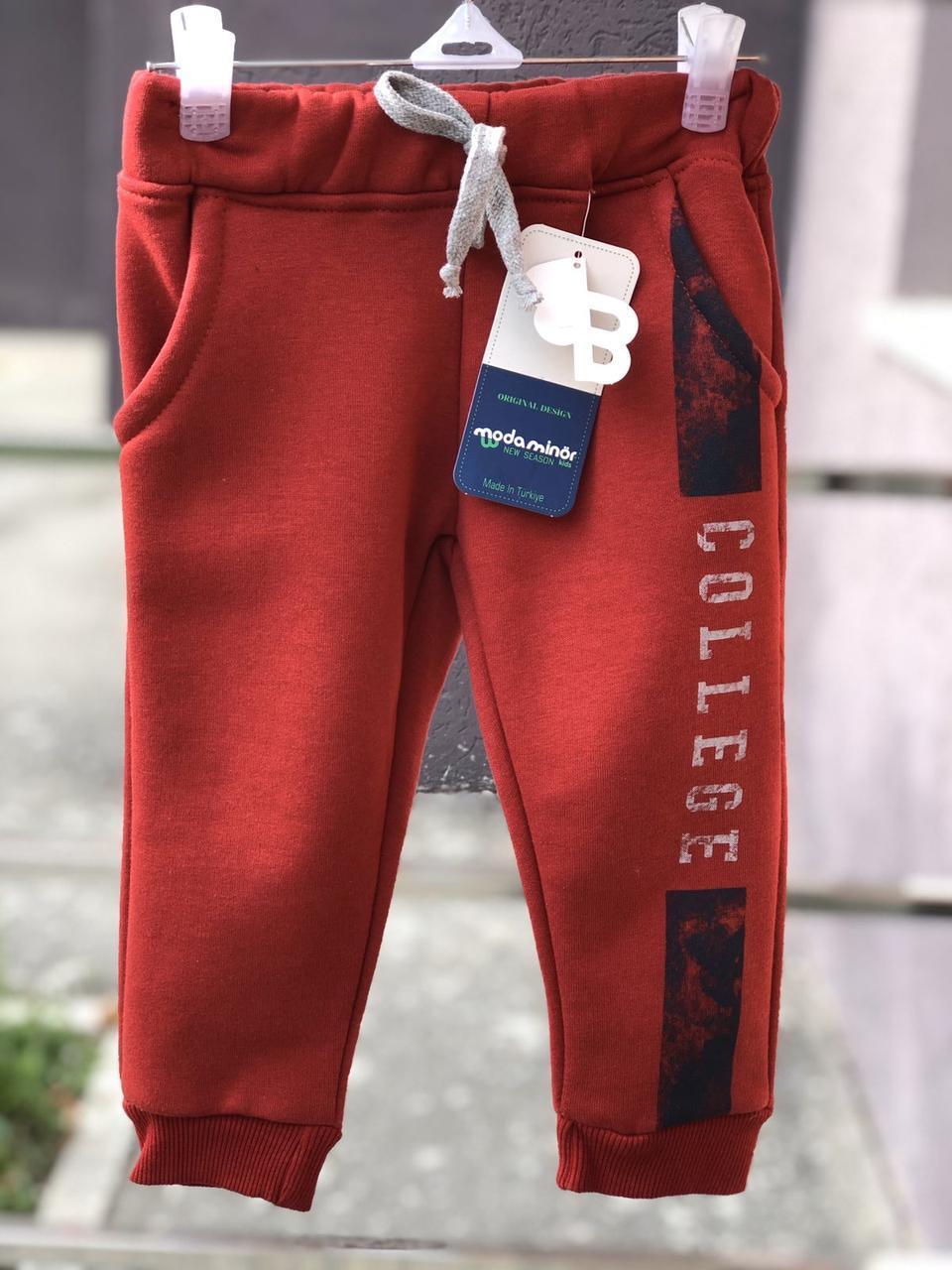Утепленные детские  спортивные штаны ( на рост 92 см)