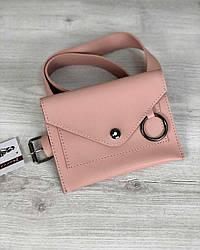 Рожева поясна сумка
