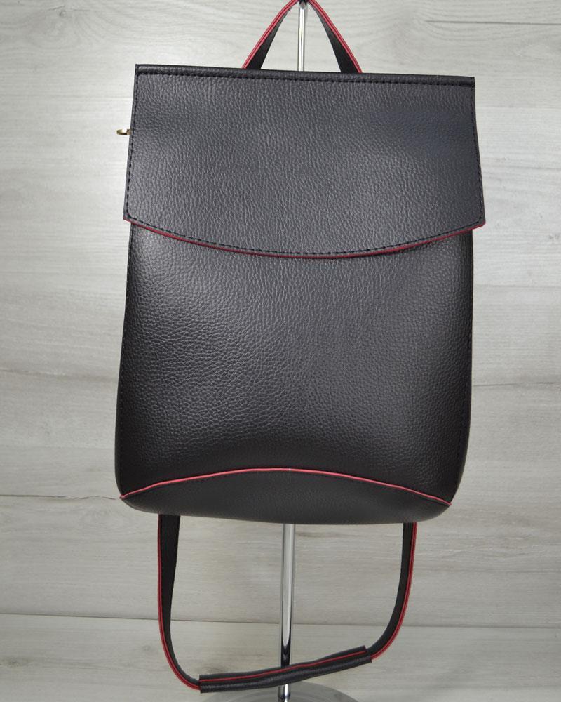 Женская сумка-рюкзак черного цвета