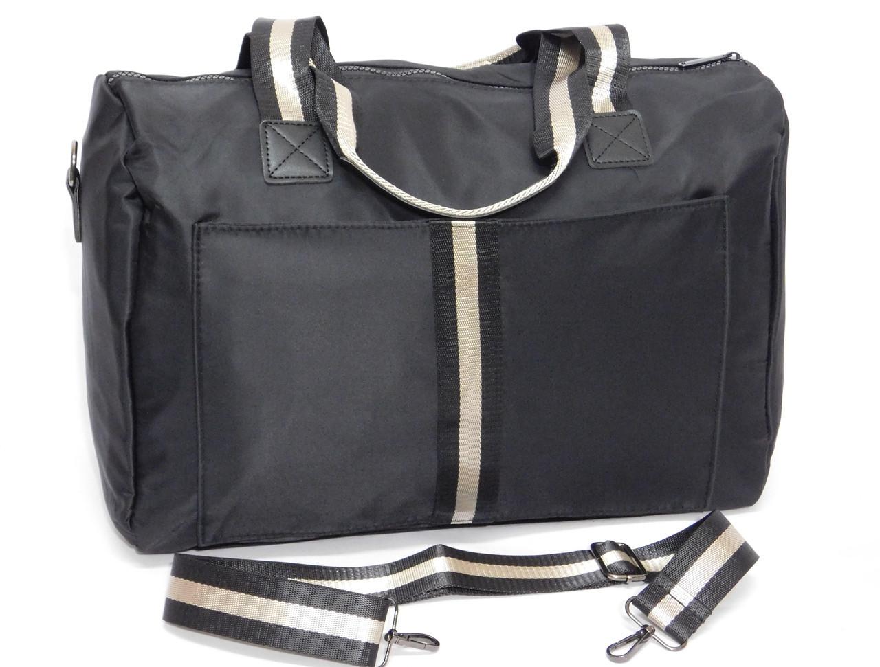 Дорожная спортивная черная сумка
