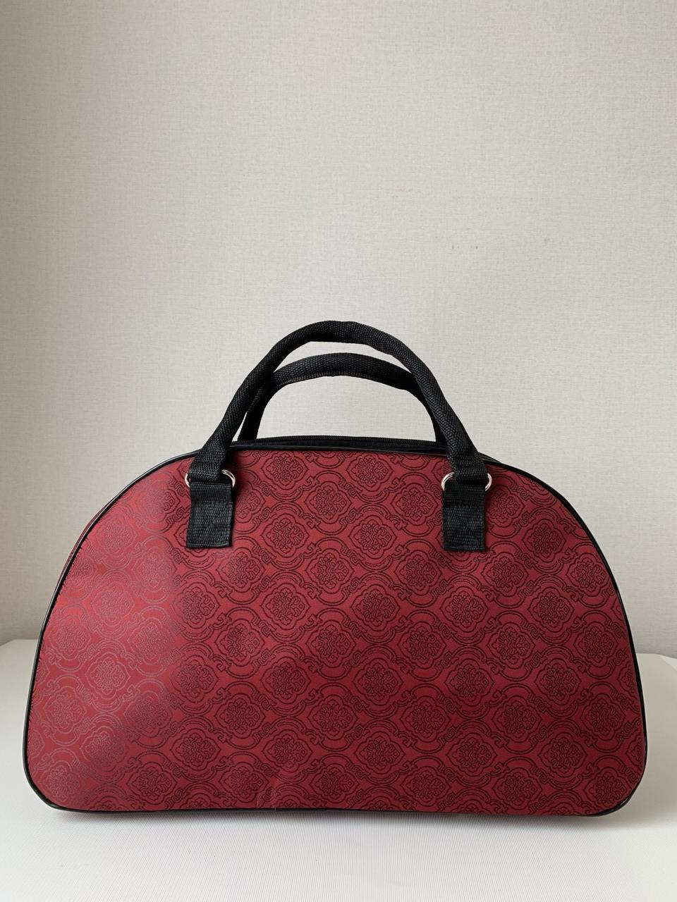 Яркая дорожная женская красная сумка-саквояж текстильная ручная кладь для путешествий