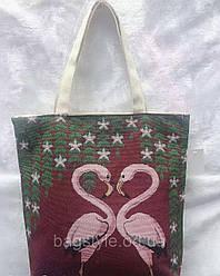 Летняя эко-сумка тканевая пляжная