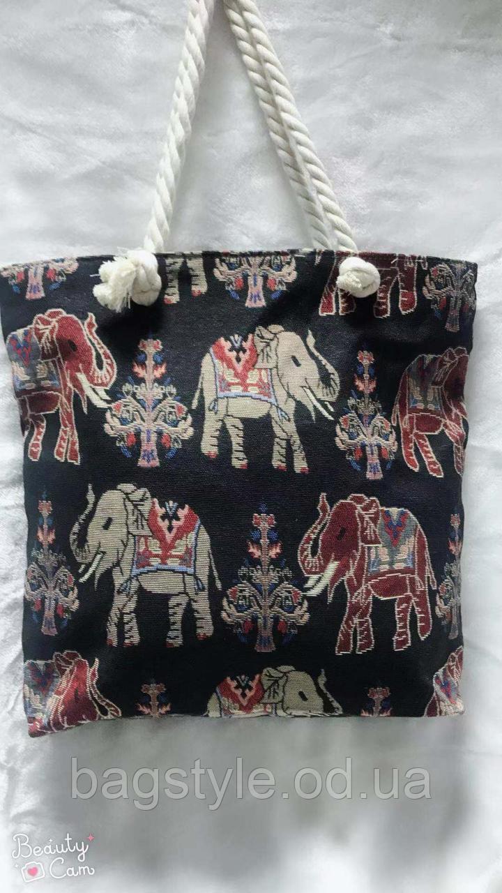 Пляжна Сумка текстильна з малюнком
