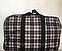 Складная дорожная сумка в клетку текстильная, фото 3
