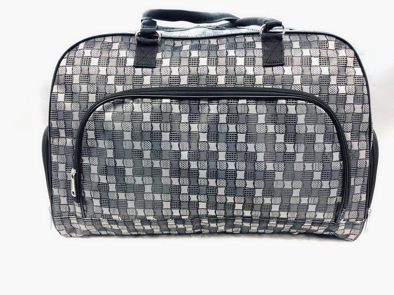 Сіра жіноча сумка-саквояж універсальна дорожня