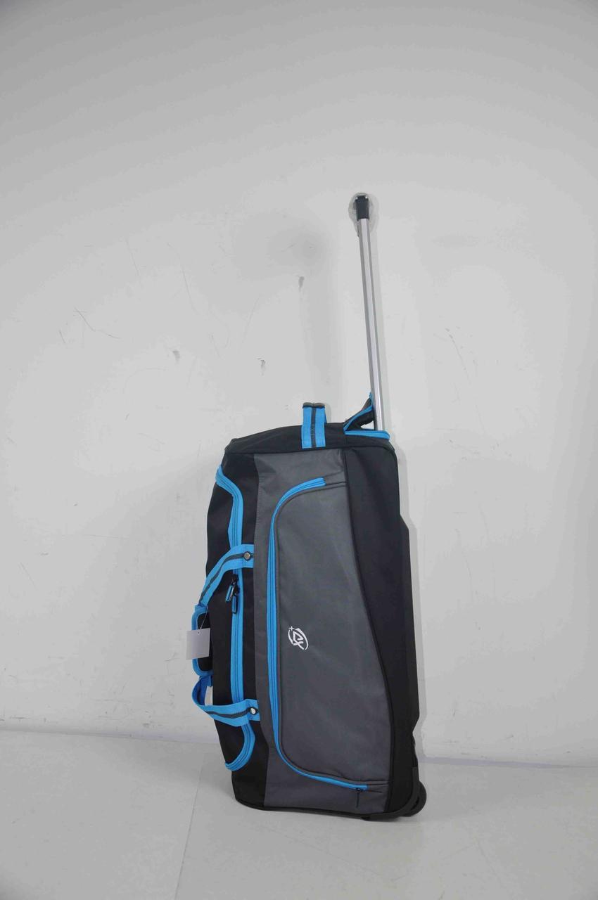 Міцна сумка на колесах середня дорожня з висувною ручкою